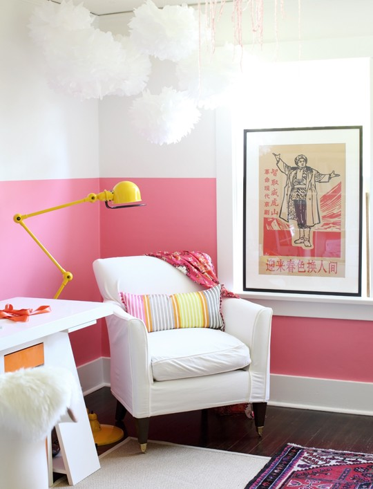 bubblegum color block wall-1