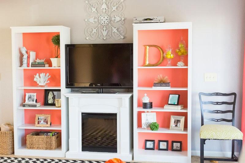 DIY coral cabinets