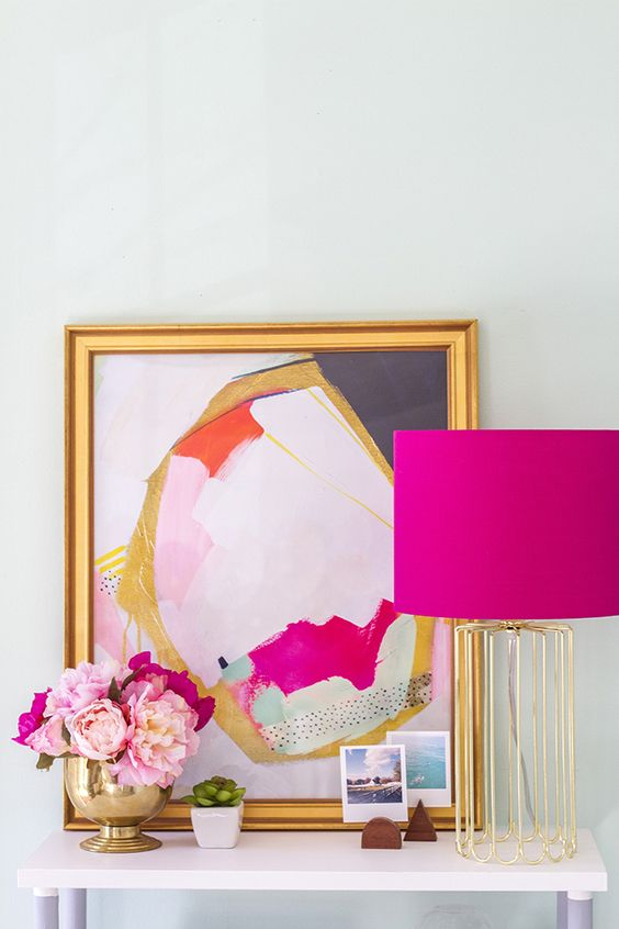 fuchsia lamp shade