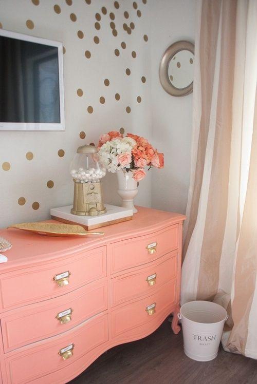 peach pink sideboard