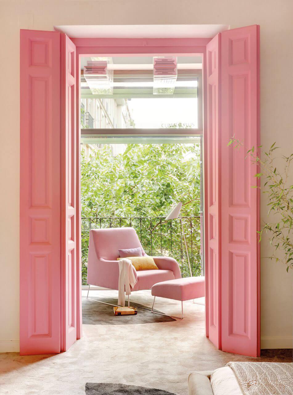 Bubblegum pink doors