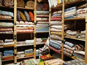 Indian artisanal textiles in Aunty B shop in Madrid's Chueca