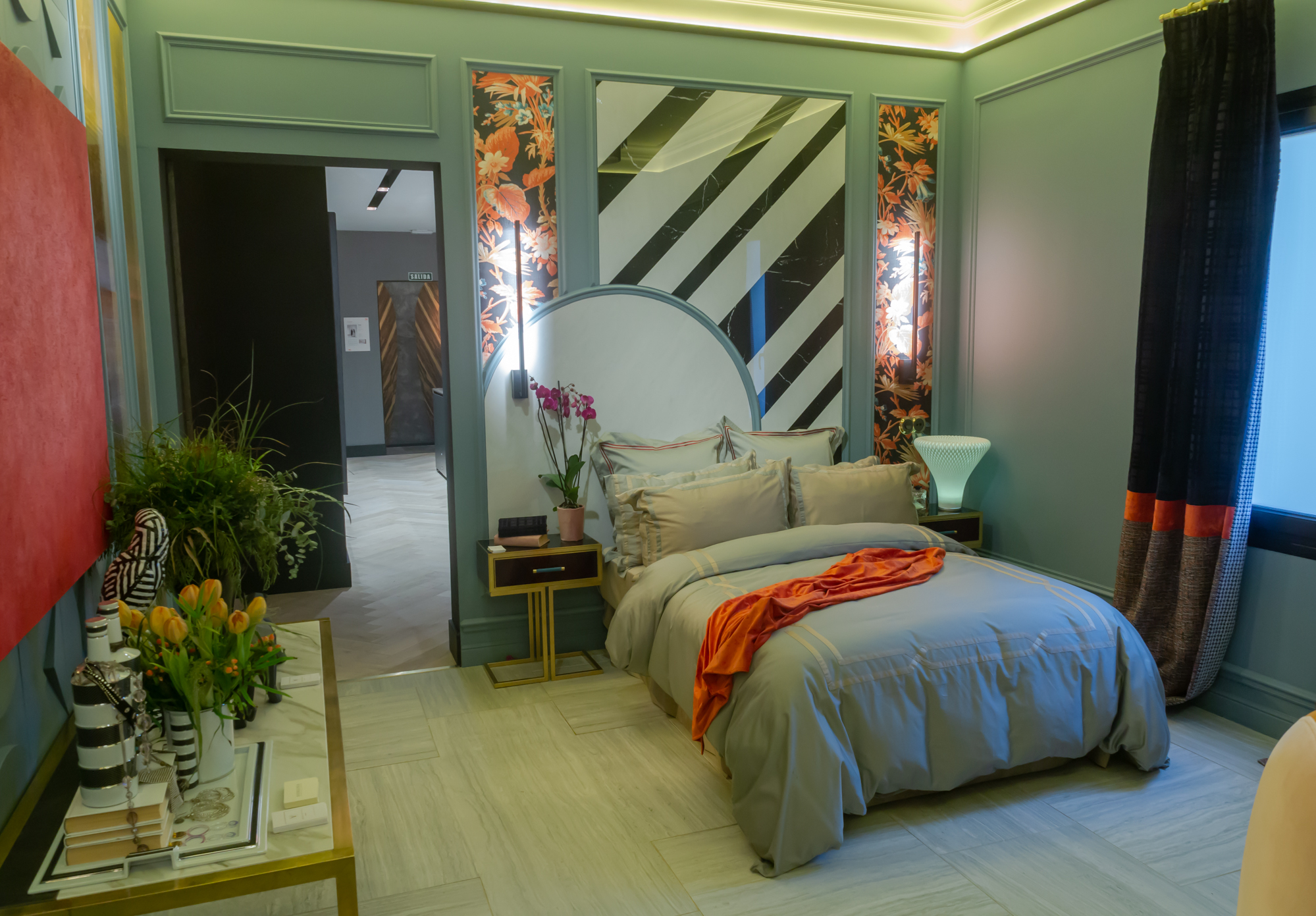 The Flapper bedroom by Virginia Sanchez at Casa Decor 2019, Madrid