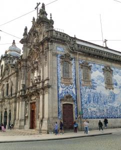 Porto church azulejos facade