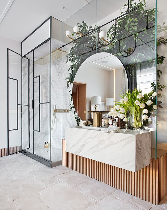 Italian Terme style bathroom designed by AS Interiorista at Casa Decor 2019