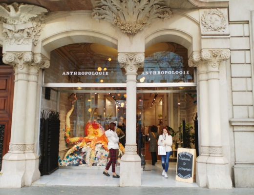 Anthropologie store at Paseo de Gracia in Barcelona