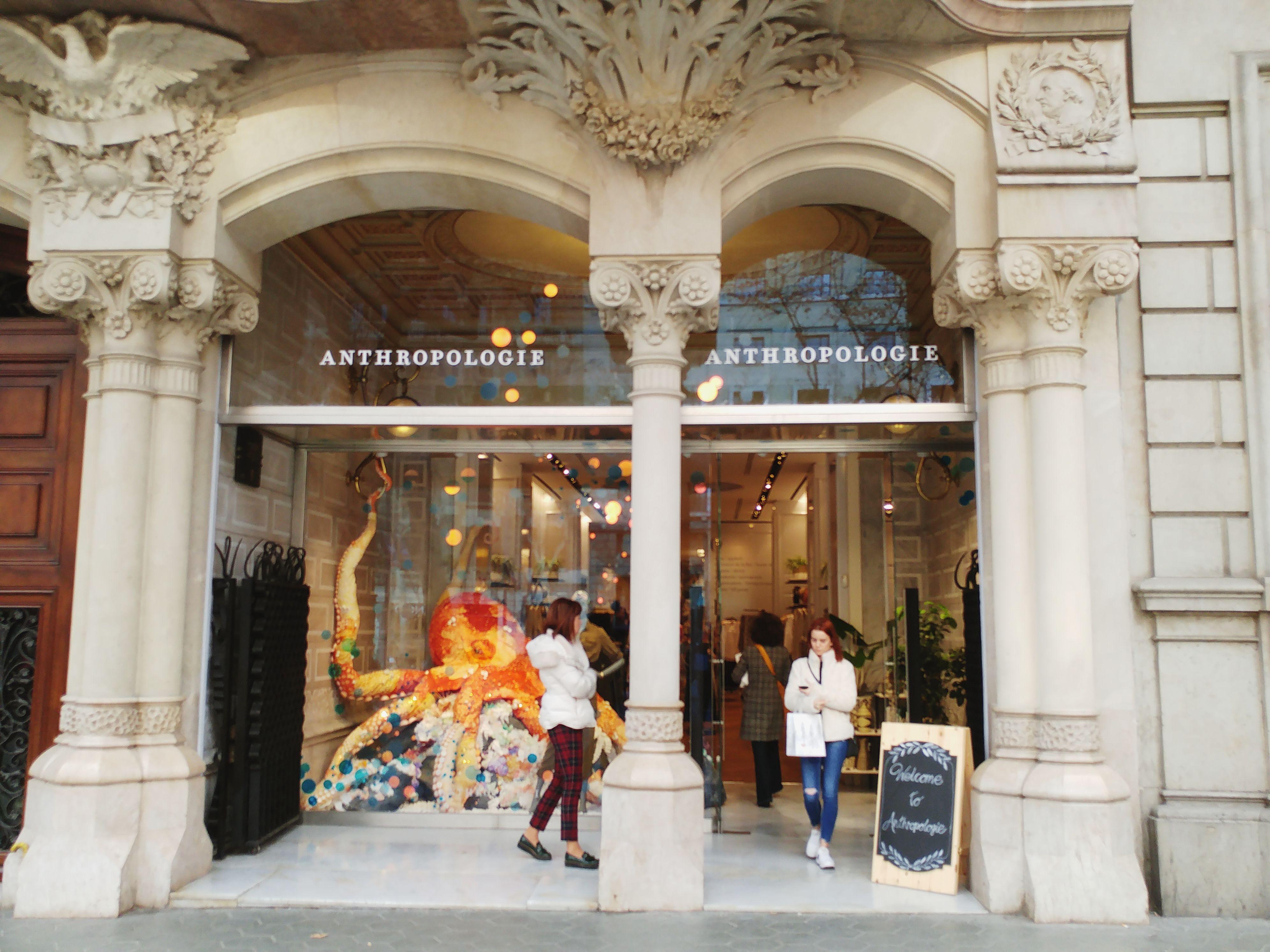 Anthropologie store at Paseo de Gracia in Barcelona