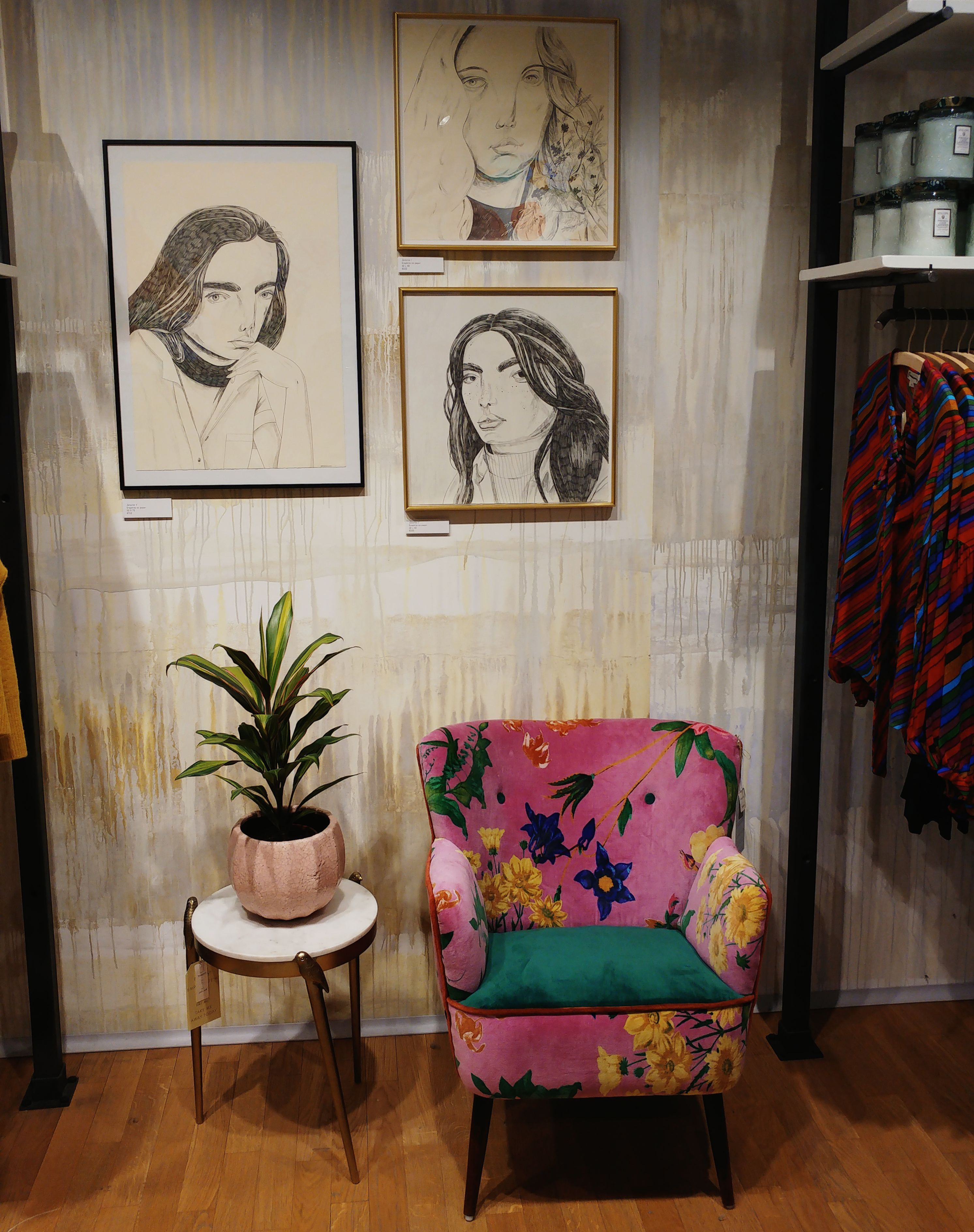 Anthropologie shop in Barcelona - bohemian and eclectic interior decor