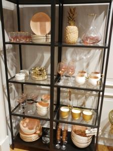 Anthropologie shop in Barcelona - peach pink tableware