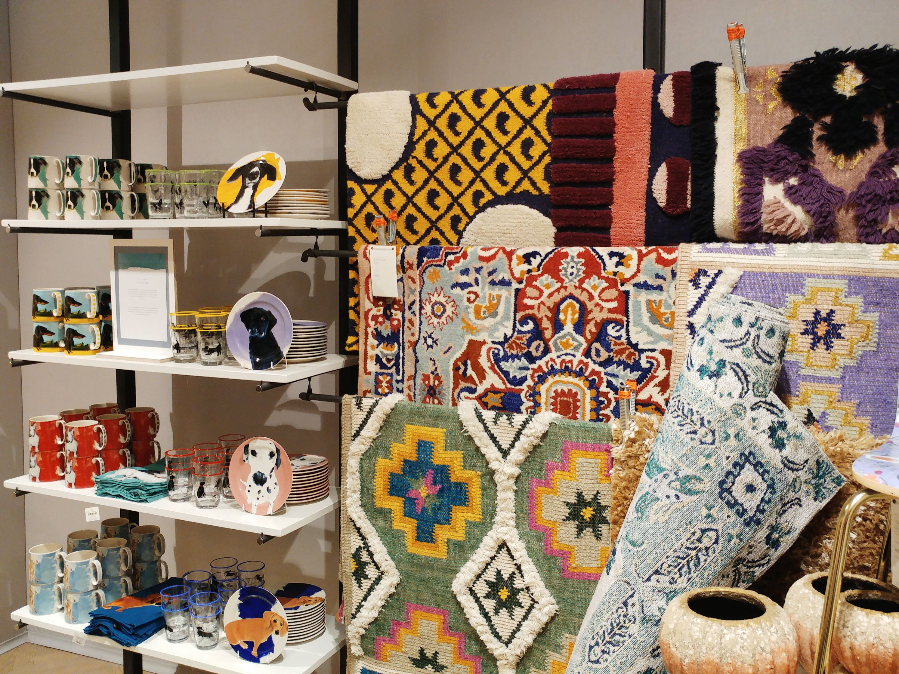 Anthropologie shop in Barcelona - rugs