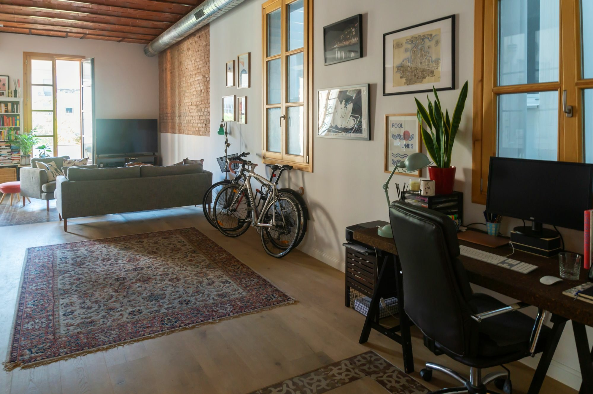 Gemma home tour Barcelona open space modernist style