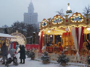 Christmas festivities in Sokol neighborhood, Moscow