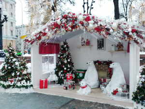 Christmas in Moscow - white bears house