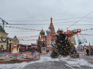 Red Square during Christmas