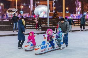 Ice rink at VDNKh park, Moscow