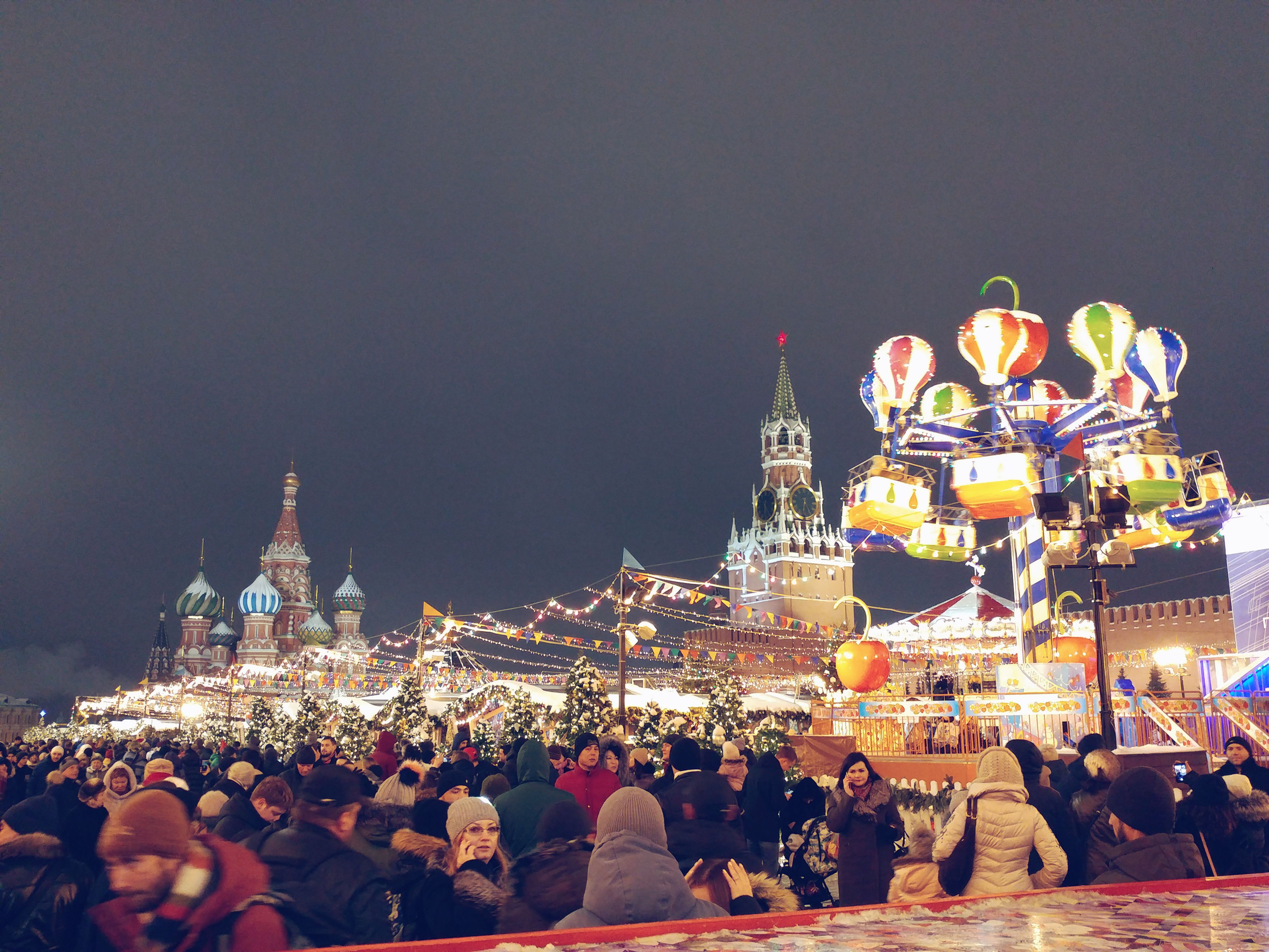 Christmas market on the Red Square, Moscow