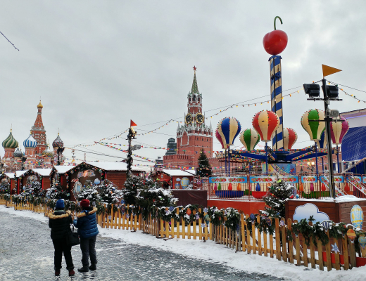 Red Square, Moscow, during winter holidays