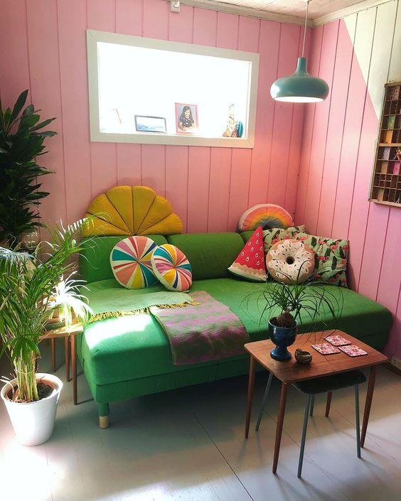 @polkadotingrid bohemian retro house in Norway